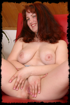 chubby BBW red head showing off tasty tits and a juicy pussy