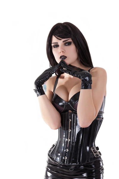 dominatrix phone sex woman with tight leather corset